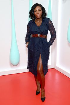Serena Williams Photos Photos - Serena Williams attends the launch of the Burberry DK88 Bag hosted by Christopher Bailey at Burberry Soho on May 2, 2017 in New York City. - Burberry Celebrates the Launch of the DK88 Bag, Hosted by Chief Executive and Chief Creative Officer Christopher Bailey