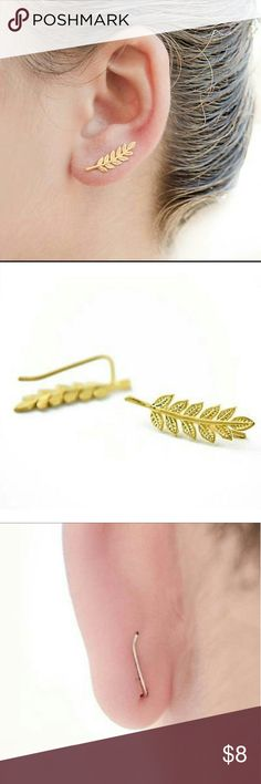 COMING SOON! Detailed Gold Leaf Climber Earring So on Trend, Nature Inspired Detailed Gold Tone Leaf Ear Climber Earrings. A Little Over Half an Inch Long. NEW. Also Available in Silver Tone. BUNDLE & SAVE On Shipping. On Mercari for Cheaper. Jewelry Earrings