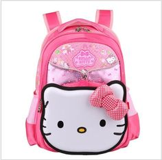 adf11450d39a Hello Kitty Children School Bags For Girls Kids Schoolbag Cartoon Kids  School Backpacks PInk Double Shoulder Mochila Infantil