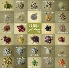 New to gluten-free? Take a look at some of the grains and beans that are safe to eat!