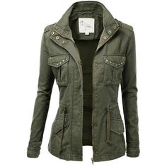 Womens Trendy Military Cotton Drawstring Jacket Online Store Demo ❤ liked on Polyvore featuring outerwear, jackets, coats & jackets, coats, tops, camo field jacket, camo jacket, green jacket, military field jacket and army jacket
