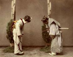 New Year ceremony or Geisha meets Samurai,