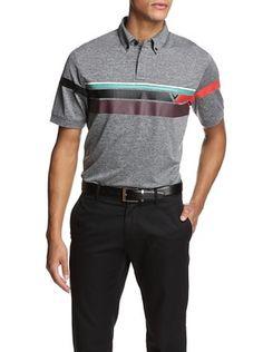 53% OFF Callaway Men's Overdye Heathered Short Sleeve Polo Shirt