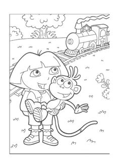 Dora The Explorer Kids Coloring Pages Free Colouring Pictures To Print