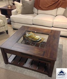 Mallacar Coffee Tables Dramatic Presence Is Exactly What An - Ashley mallacar coffee table