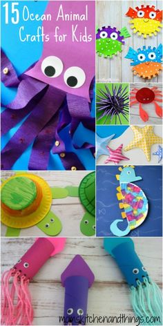 The Ocean is full of all kinds of fascinating animals. The tiniest being Zooplankton & the biggest being Blue Whales. Big or little these animals all live make up their own little world under the Ocean. Here are some fun crafts (& some facts) about some of these interesting animals. 1) Jellyfish Craft for Kids …