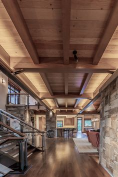 Martis Camp Lot 371 By Kelly And Stone Architects Chalet Design, Barn Renovation, Interior Architecture, Interior Design, Timber Structure, Modern Stairs, Metal Homes, Architect Design, Modern House Design