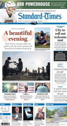 The Standard-Times. July 4, 2015.  New Bedford prepares for terminal's first customer; SouthCoasters enjoy a beautiful evening at UMD; a Westport car dealer is trying to change its name, and more.