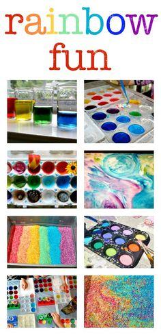 Rainbow activities for kids :: rainbow art, rainbow crafts, rainbow science experiments and sensory play