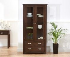 Sandringham Rustic Dark Oak Display Unit