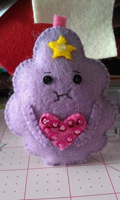 Handmade felt applique LSP Lumpy Space Princess by cheshirecat22, $12.00