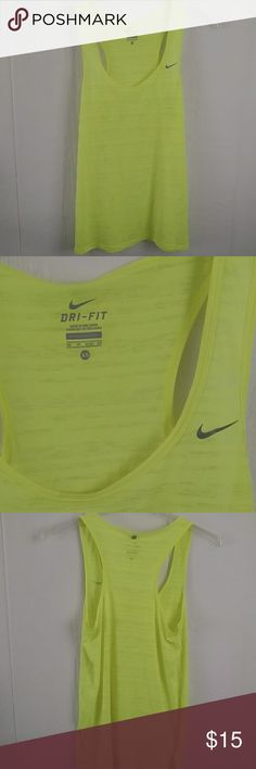 Nike Dri-Fit Tank Bright neon green/yellow tank top from Nike. Size extra small. 100% recycled polyester. Nike Tops Tank Tops