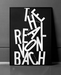 Typeverything.com 'The Real Von Bach' poster by Bunch.