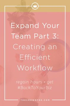 Your online business is a booming success! Now it's time to start outsourcing work and bring on a designer to give you that professional and polished feel. Here's how you can establish an efficient workflow! | www.TheCrownFox.com | Graphic design Assistant for Creative Entrepreneurs
