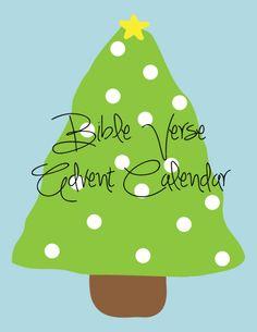 Bible Verse Advent Calendar