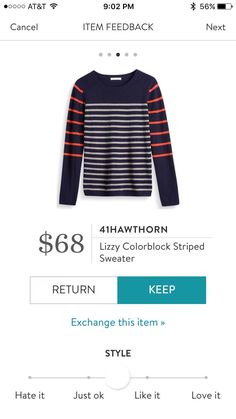 41Hawthorn Lizzy Colorblock Striped Sweater. Oooh so cute!!!