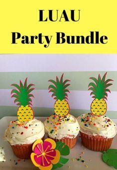 Luau BUNDLE- First Birthday, Coral and Teal, Moana Party, Tropical First Birthday, Luau Photo Banner, Luau Garland, High Chair Banner #afflink