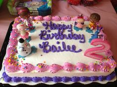 Bailee's Doc McStuffins birthday cake