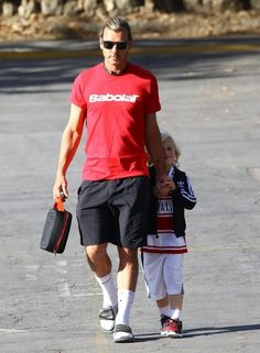 Gavin Rossdale takes his son Zuma to school