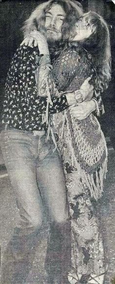 Robert Plant and the late Sandy Denny-- unofficially considered the 5th member of LZ (she sang on Battle of Evermore...)
