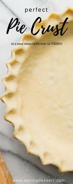 Perfect Pie Crust Recipe in 3 easy steps Perfect Pie Crust Recipe in steps - With just a little patience and practice, you can make flaky, delicious pastry for all your favorite pie recipes. Pie Crust Recipes, Tart Recipes, Baking Recipes, Pie Crusts, Pie Dessert, Dessert Recipes, Perfect Pie Crust, Easy Pie, Delicious Desserts