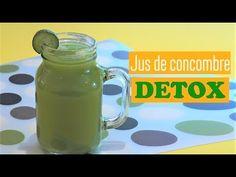 Jus Detox pour maigrir (recette facile et rapide) - YouTube Jus Detox, Mason Jars, Health Fitness, Mugs, Tableware, Facebook, Purifier, Sport, Crochet