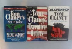Tom Clancy Audio Books Set Of 3 Executive Orders Breaking Point Into The Storm