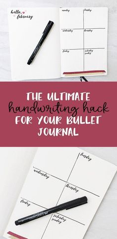 Handwriting Hack! The ultimate hack for beautiful hand lettering in your bullet journal #bulletjournal #handlettering