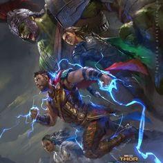 Thor, The Hulk, Valkyrie, and Loki (Ragnarok/by: Fajareka Setiawan)  DoubleTap & Tag a Friend Below⤵*  *  *  *  *   Plz Follow me - @marvelfanboyz  To be Featured ❤❤❤v  .  Tag your love   *  Thank you ! ♥♥♥♥♥♥ Tag #thor #asgard #loki #marvel #mjolnir #marvelcomics #marveluniverse #mcu #marvelstudios #hulk #hela #drstrange #sif #odin #thorragnarok #marvelmeme #marvelfanart