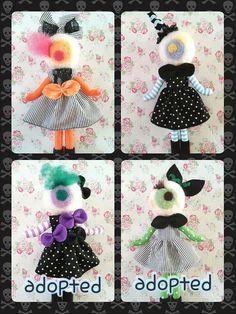 Japanese Vintage Pose Doll Big Eyes Dolly by CottonCandyWorkshop