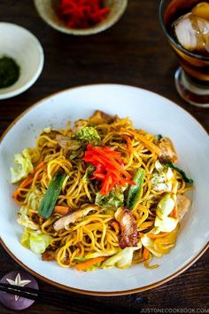 Yakisoba is a classic Japanese stir fry noodles dish with pork and vegetables, and it's seasoned with a sweet & savory sauce similar to Worcestershire sauce. #yakisoba #stirfrynoodles | Easy Japanese Recipes at JustOneCookbook.com Yakisoba Recipe, Recipes Using Rice, Rice Noodle Recipes, Easy Japanese Recipes, Japanese Dishes, Japanese Food, Chinese Food, Salmon Recipes, Essen