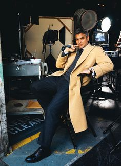 George Clooney calling the shots #menswear