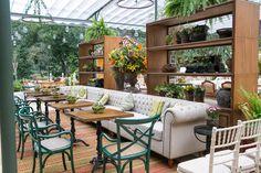 Decoração rústica: lounges aconchegantes