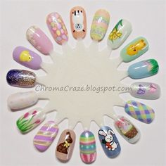 Easter - Hand-Painted, Easter Nail Art, Easter Nail Designs #2014 #easter #nails www.loveitsomuch.com
