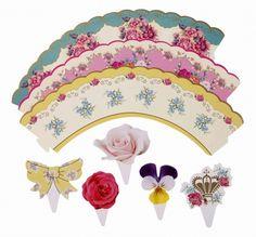 Vintage cupcake wrappers