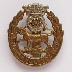 York And Lancaster Regiment ORs Cap Badge