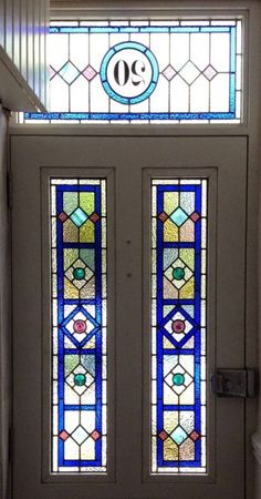 44 ideas for stained glass door panel entrance transom windows Stained Glass Door, Stained Glass Designs, Stained Glass Panels, Stained Glass Patterns, Leaded Glass, Mosaic Glass, Glass Art, Fused Glass, Front Door Glass Panel