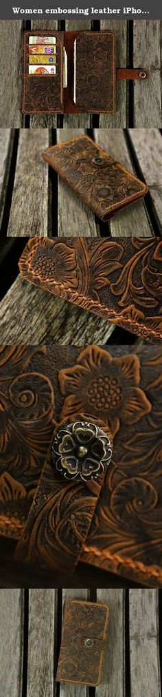 """Women embossing leather iPhone 6s 7 wallet case iPhone 6 7 mobile wallet / leather iPhone 6 6s 7 plus wallet case cover IP20MWP-B. **************************************** Why we honor and insist on hand sew our leather product ? Leather sewing machines commonly use the """"lock stitch"""" , If just one loop of a lock stitch is broken, the other side will automatically be loosened, often this process of unraveling will continue until the entire product is ruined. Hand sewing (saddle stitch)…"""