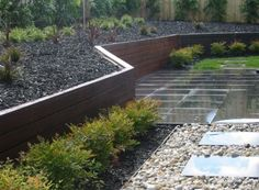 Wood retaining wall.  This is what mine's gonna look like.  If it ever gets done.