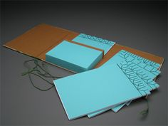 "Japanese Bindings in Portfolio by Theresa Marr.   6"" x 8.75"" x 1.5"" Fabric, Paper, Binders Board, Cardstock, Thread 2009"