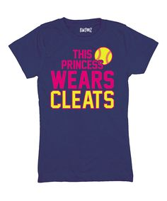 Love this Navy 'This Princess Wears Cleats' Tee - Girls by Sporteez on #zulily! #zulilyfinds