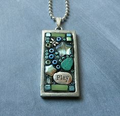 Juliespace: Using an Epoxy Clay In My Mosaic Pendants