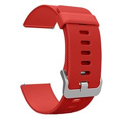 Fitbit Blaze Accessories Classic Band Large UMTele Soft Silicone Replacement Sport Strap Band with Quick Release Pins for Fitbit Blaze Smart Fitness Watch Orange Red Frame Not Included 6781 *** See this great product. Note: It's an affiliate link to Amazon.