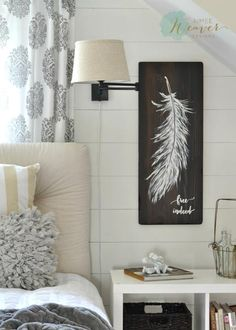 "Feather Painting ""Free Indeed"" {ready-to-ship}"