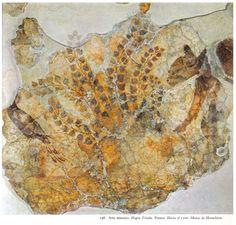 Minoan fresco with Cat Hagia Triada Crete 1500 BC Museum of Heraklion