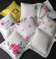 Confessions Of a New / Old Home Owner: Vintage Hankies: An Upcycling Project