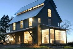 27 Ideas house plans barn front elevation for 2019 Loft House Design, Pool House Designs, Basement House Plans, Barn House Plans, Black House Exterior, Exterior House Colors, Building A Pole Barn, Unique Floor Plans, Modern Barn House