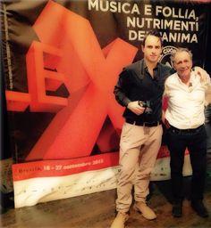 Un quadro veramente speciale Frid e Roberto Vecchioni dopo l'omaggio ad Alda Merini al Teatro Sociale di Brescia.