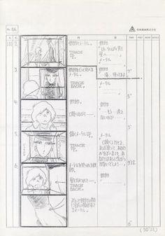劇場 銀河鉄道999絵コンテ  Galaxy Express 999 #Toei #animation #anime #storyboards #Rintaro #Leiji #Matsumoto