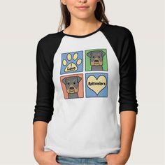 I Love Rottweilers T Shirt, Hoodie Sweatshirt